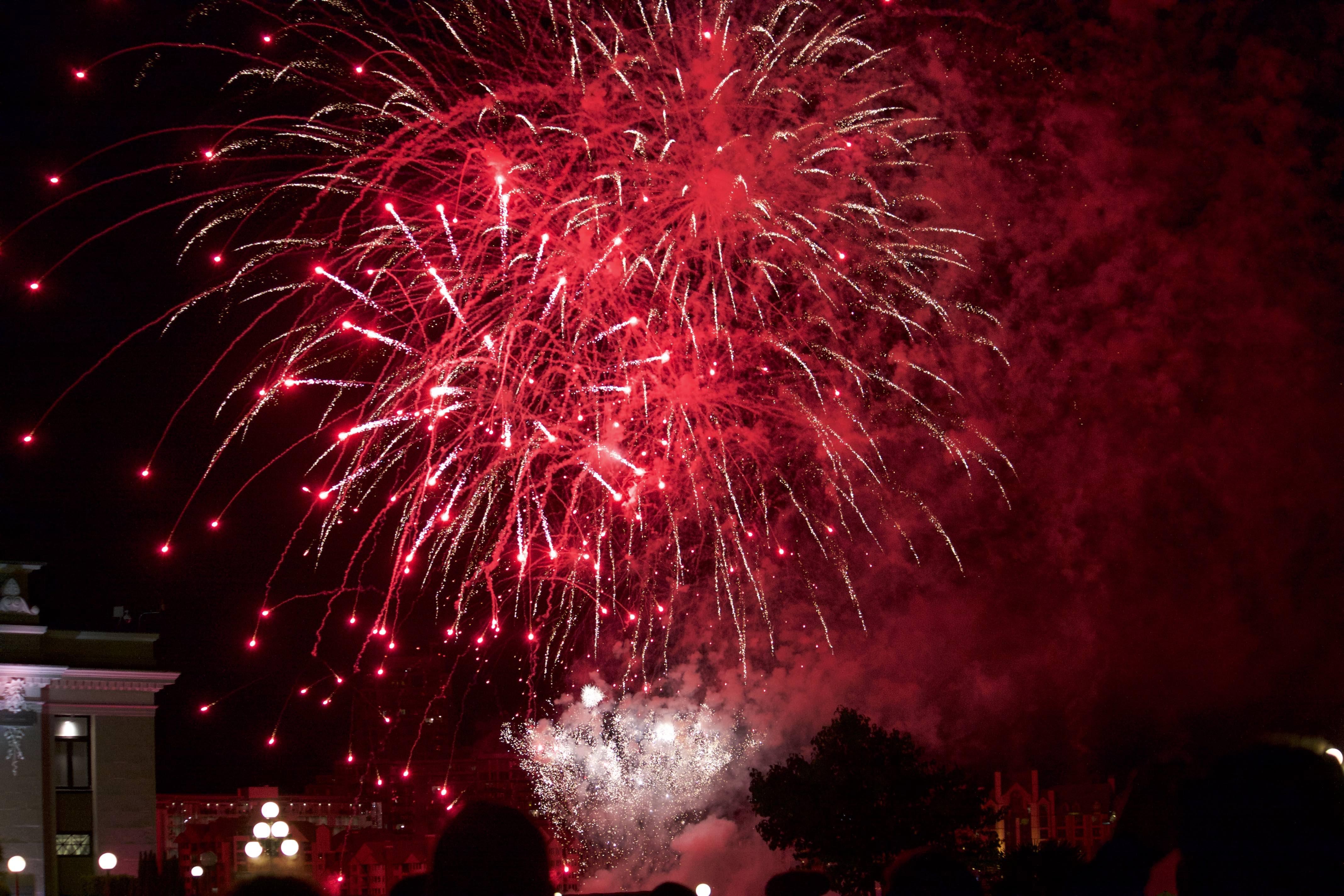 Canada Day festeggiamenti con fuochi d'artificio
