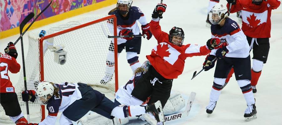 hockey su ghiaccio è uno sport molto seguito in Canada