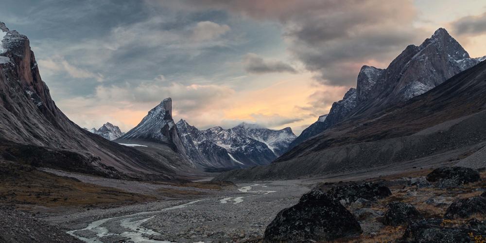 paesaggio che vedrai durante il viaggio nel estremo nord del Canada