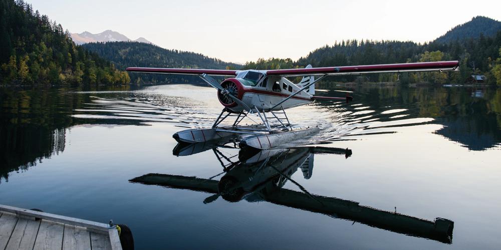 viaggio outdoor in aereo piccolo in Canada