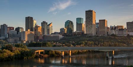 skyline di Edmonton in provincia di Alberta