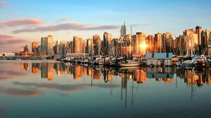 skyline di Vancouver nella provincia di British Columbia