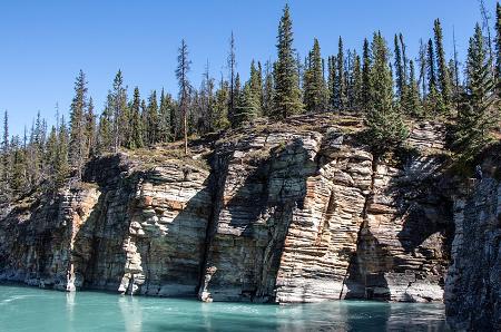 scogliera lago Athabasca in provincia Saskatchewan
