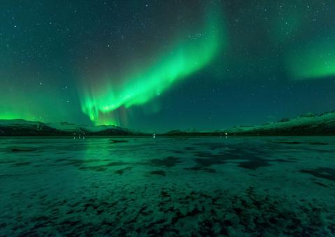 Northwest Territories Canada nord: aurora boreale