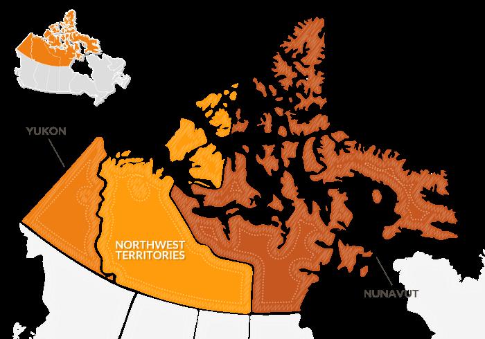 mappa Canada nord