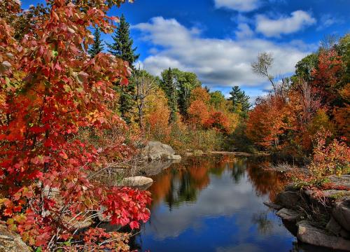 spettacolare foliage in autunno in Canada