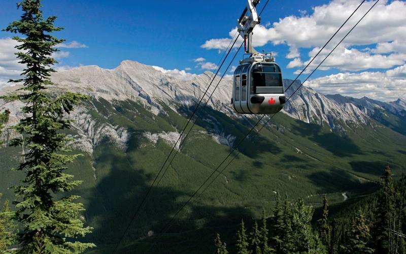 la Banff Gondola è la bella funivia per vedere le Montagne Rocciose dall'alto