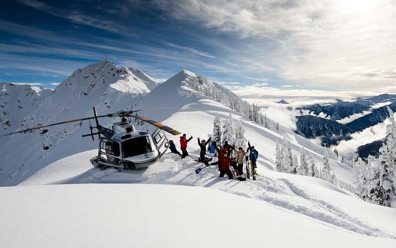 senza dubbi la miglior neve del mondo, sei pronto a provare l'heliski?