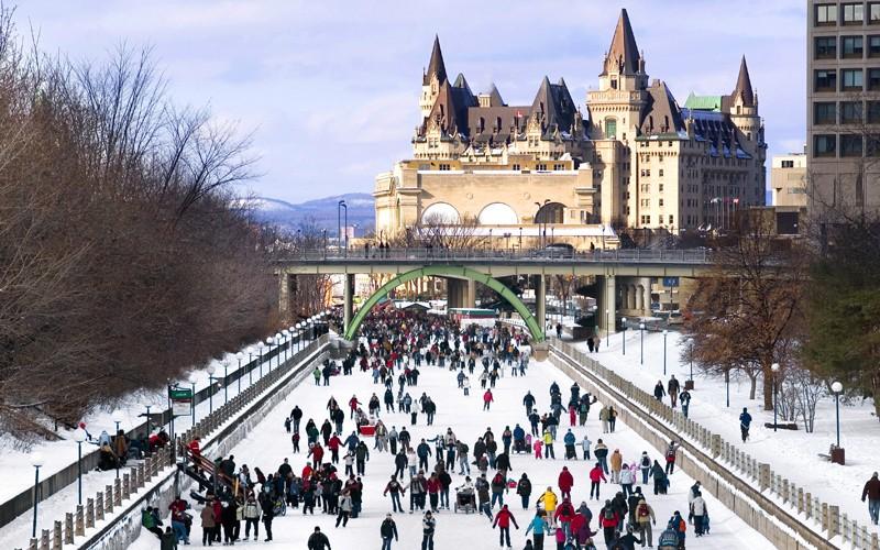 la capitale del Canada con musei bellissimi e la pista di pattinaggio più lunga al mondo