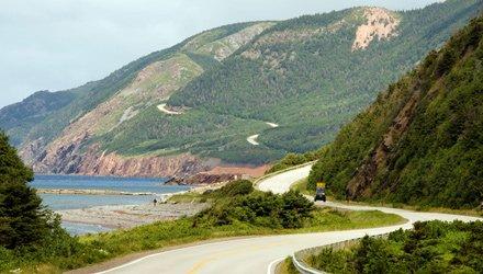 lungo la baia di St. Georges a Nuova Scotia