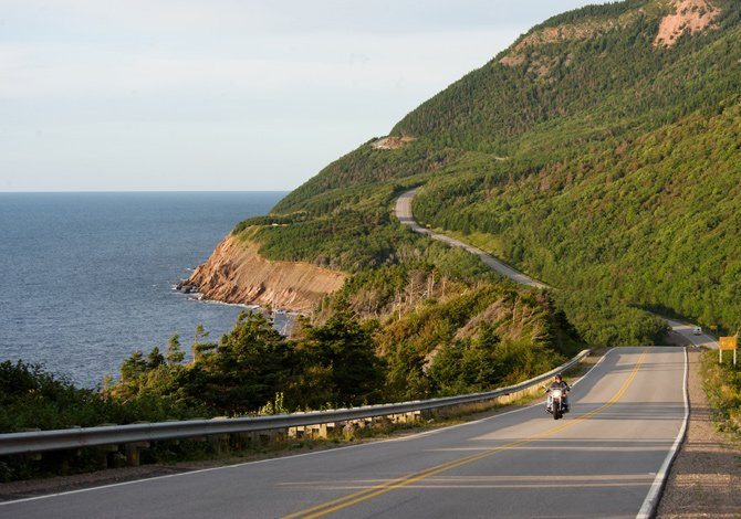 strada panoramica a Nuova Scozia