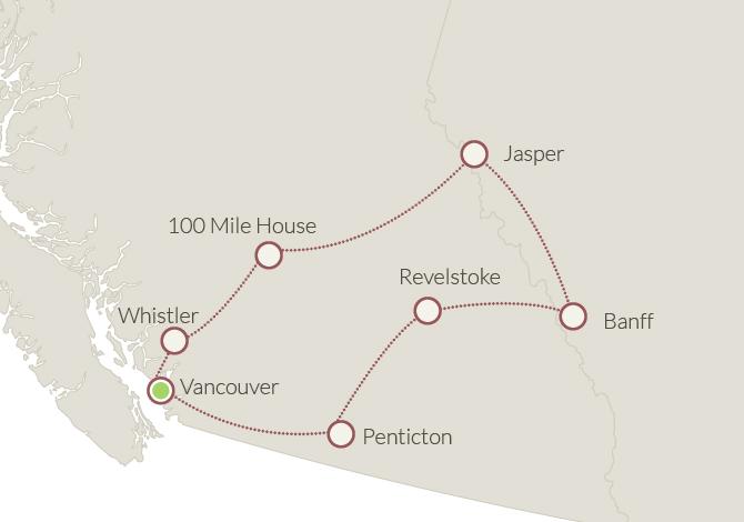 tour dei grandi parchi Canada Ovest in auto